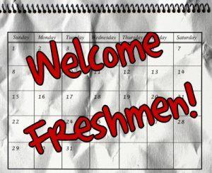 calendar saying welcome freshman