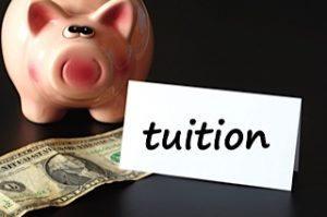 Tuition money piggy bank