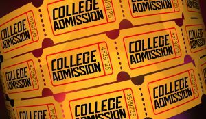 tickets that say college admissions