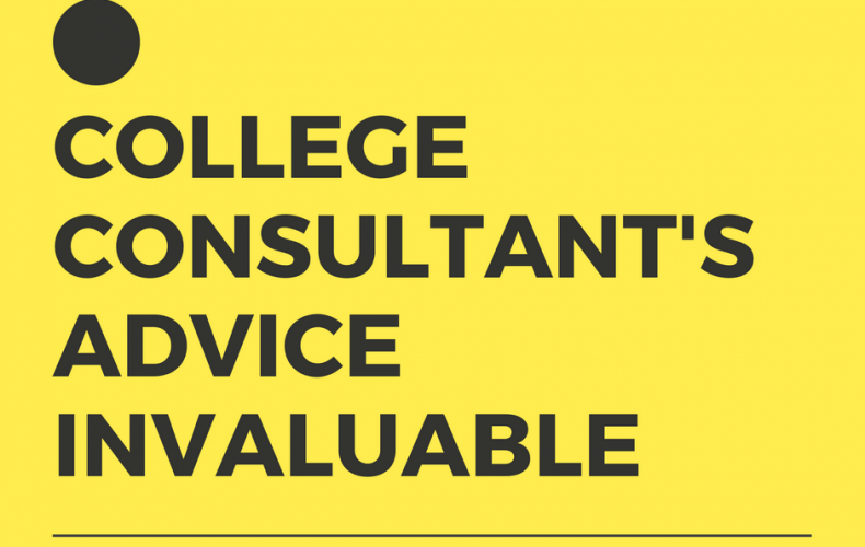 College Consultant's Advice Invaluable