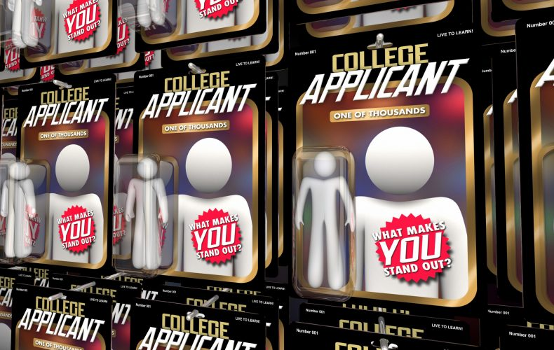 College Applicant Student Apply Admission Action Figures Stand Out 3d Illustration