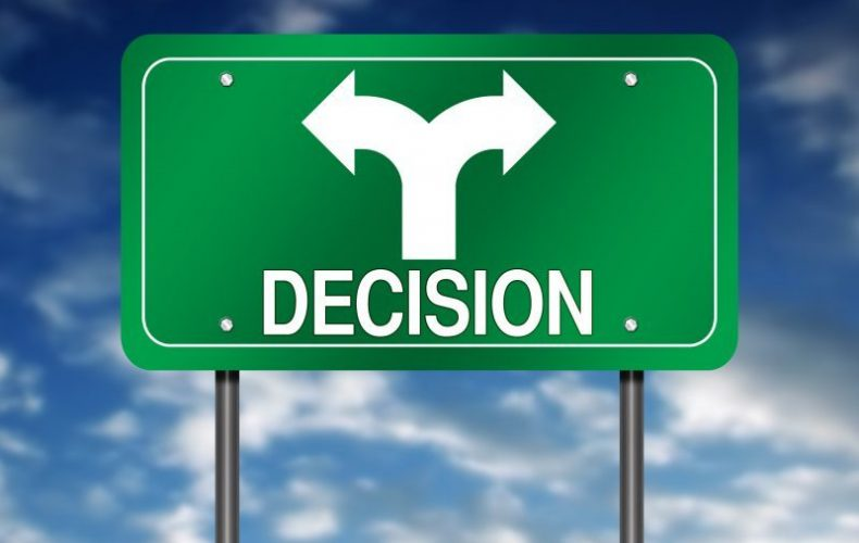 decision road sign