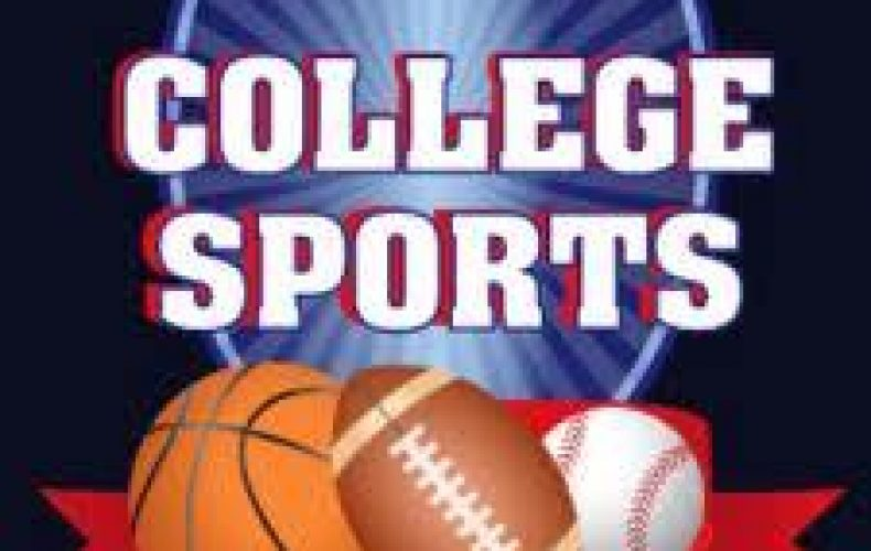 A basketball football and baseball. Making a college decision bracket like a bracket for March Madness